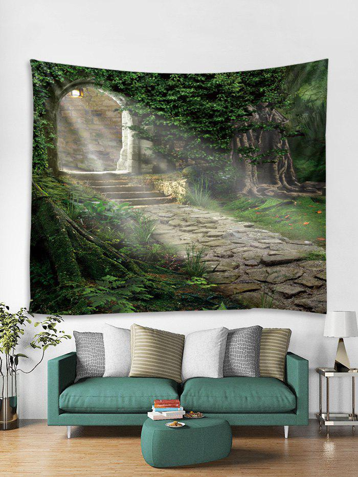 Outfits Tree Door Sunshine Path 3D Print Wall Tapestry