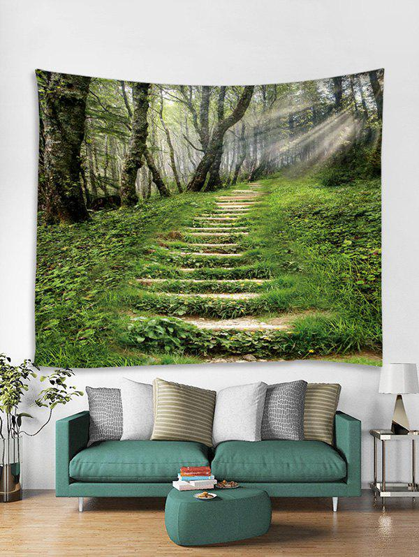 Trendy Forest Step Sunshine 3D Print Wall Tapestry