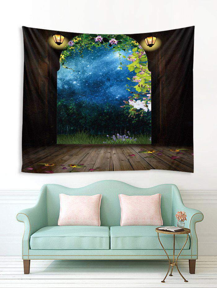 Store Arched Door Forest Sky 3D Print Wall Tapestry