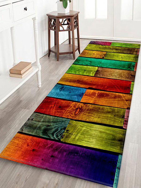 Outfit Colorful Color Spliced Wood Grain Rug