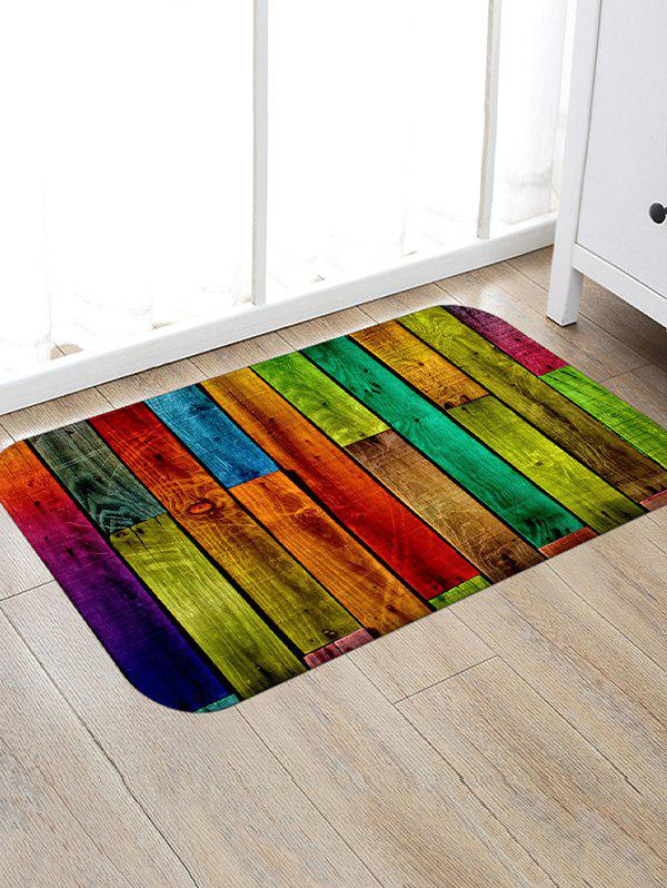 Buy Colorful Color Spliced Wood Grain Rug