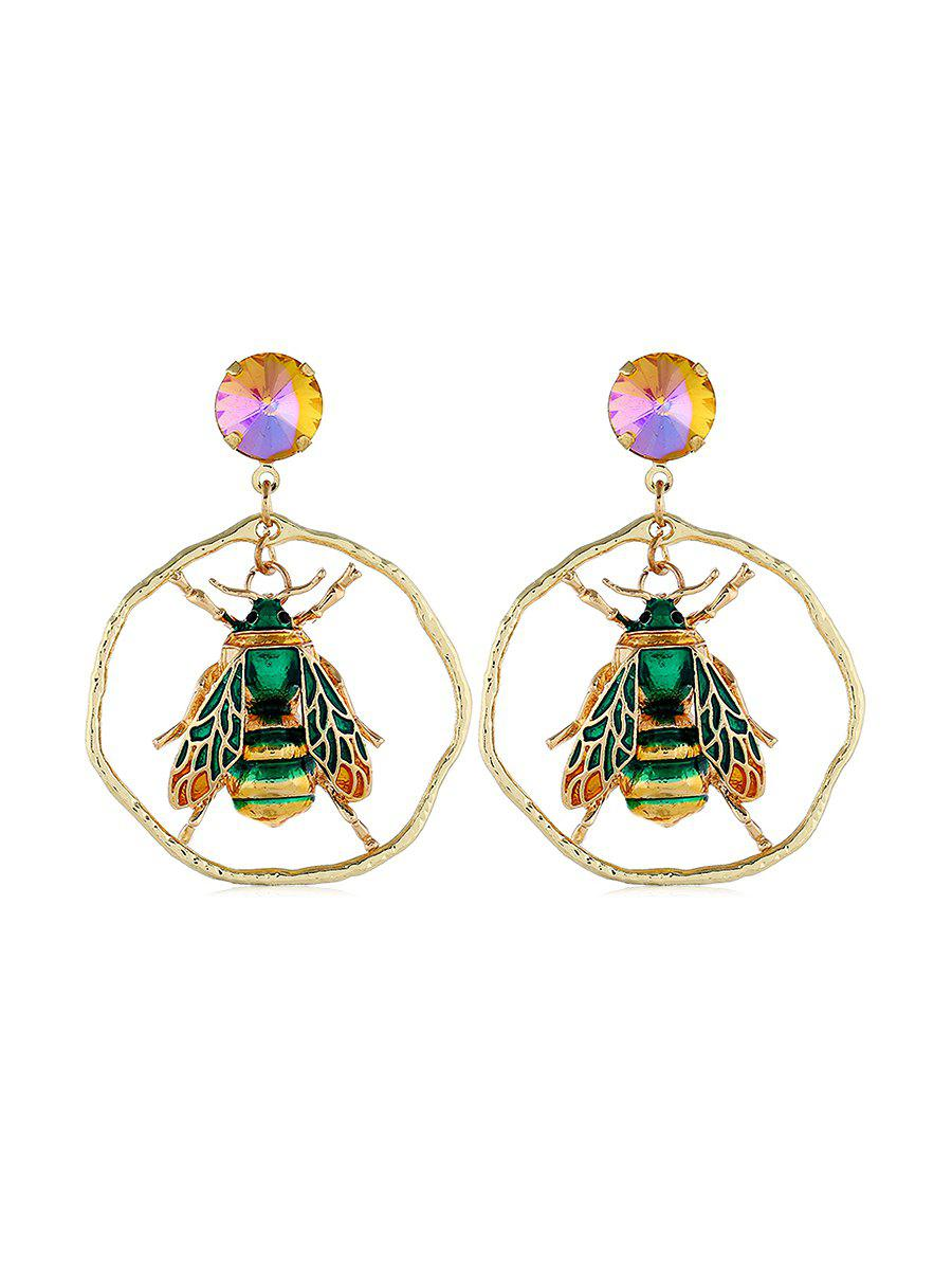 Fashion Insect Shape Faux Gem Decoration Earrings