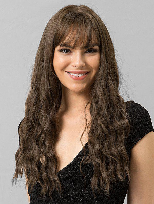 Unique Long Wavy See-through Bang Synthetic Wig
