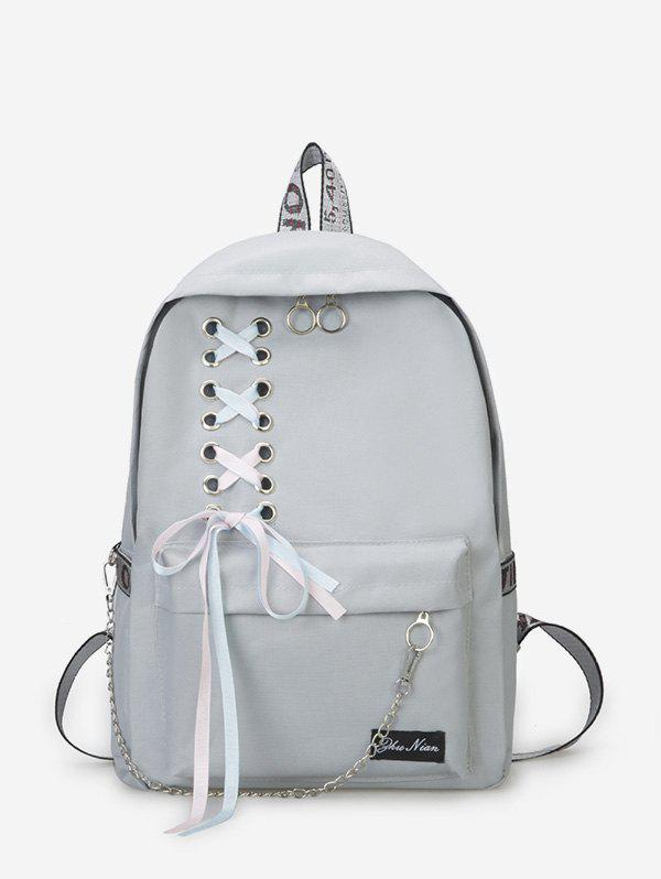 Store Canvas Lace-up Bowknot Backpack