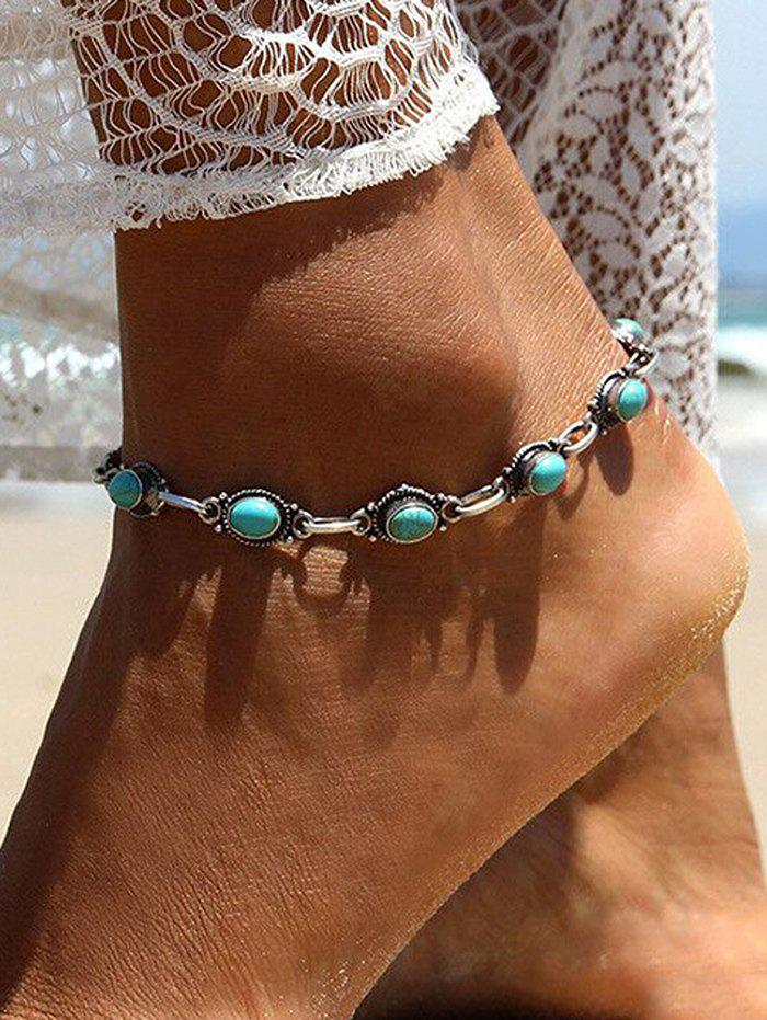 Chic Bohemian Beach Turquoise Chain Anklet