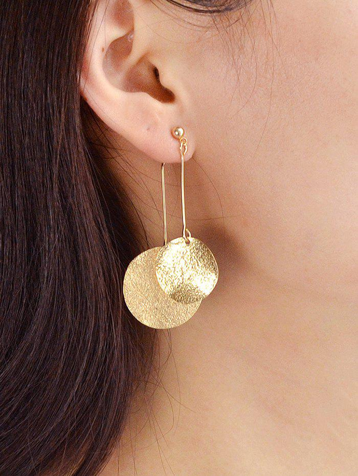 Unique Round Disc Decoration Alloy Earrings