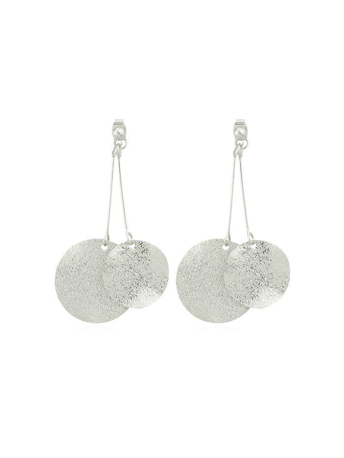 Trendy Round Disc Decoration Alloy Earrings
