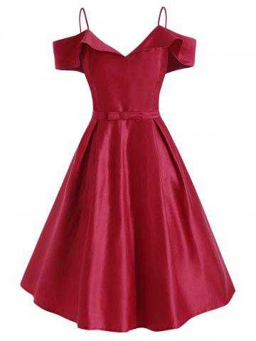 Cami Cold Shoulder Bowknot Dress