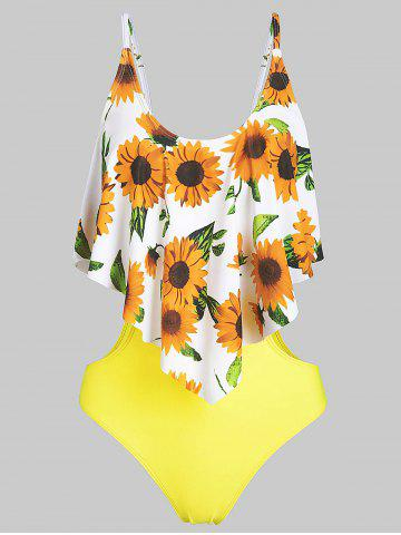 Sunflower Padded Monokini Swimsuit