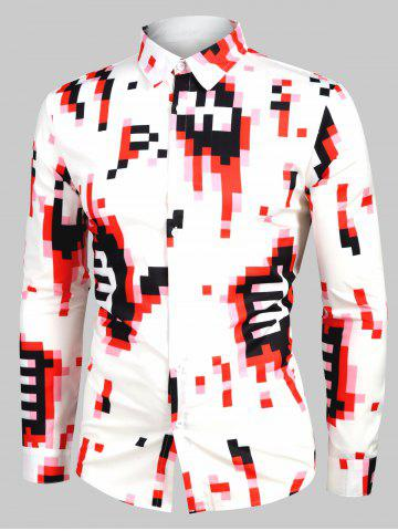 Geometric Print Casual Long Sleeves Shirt