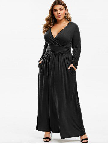 Plus Size Maxi Dresses - Long Sleeve, Floral, White And ...