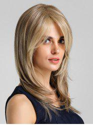 Side Bang Straight Natural Long Synthetic Wig -