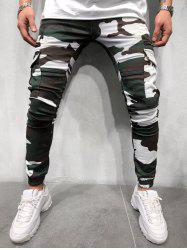 Camouflage Print Side Flap Pocket Cargo Jogger Pants -