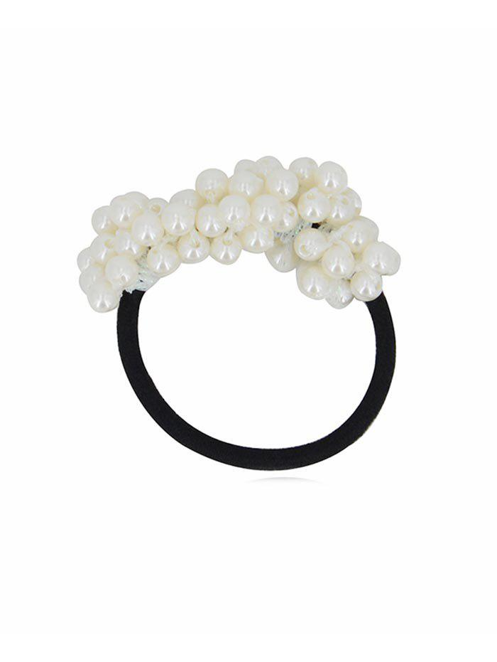 Discount Faux Pearl Elastic Hair Band Scrunchies