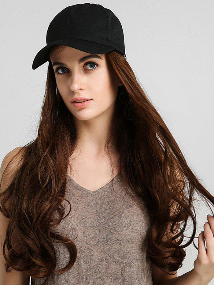 Outfit Long Body Wave Baseball Hat Synthetic Wig