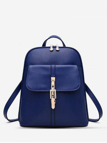Brief College Student Buckle Backpack