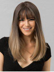 Long See-through Bang Synthetic Ombre Straight Wig -