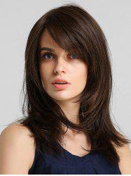 Side Bang Straight Synthetic Hair Extension with Lace Closure -