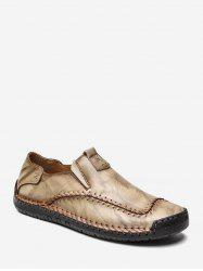 Slip On Comfortable Sewing PU Leather Shoes -