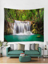 Forest Waterfall River Printed Tapestry Wall Hanging Art Decoration -