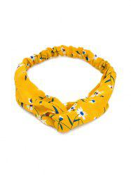 Printed Cross Knotted Stretchy HeadBand -
