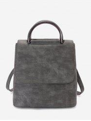 School Style Solid Simple Soft Backpack -