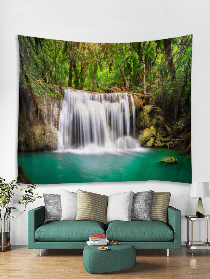 Latest Forest Waterfall River Printed Tapestry Wall Hanging Art Decoration