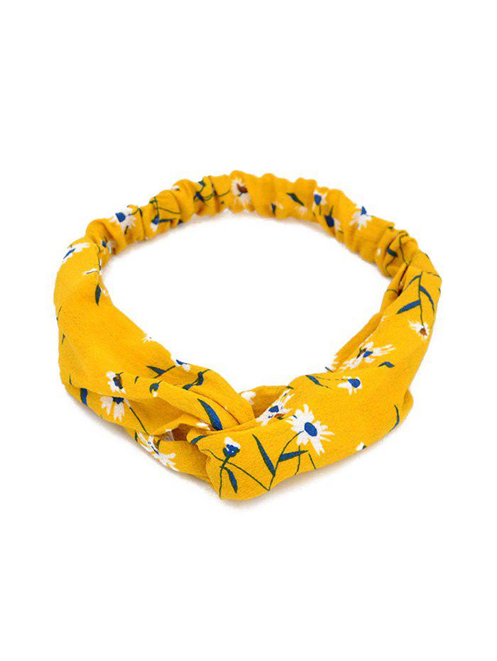 Affordable Printed Cross Knotted Stretchy HeadBand