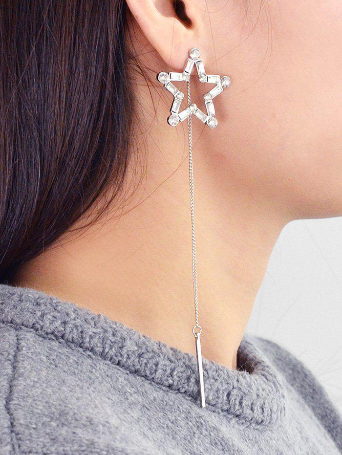 Outfit Star Hollow Rhinestone Tassel Earrings
