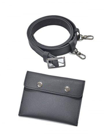 PU Leather Belt with Removable Waist Bag