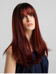 Synthetic Long Straight See-through Bang Wig -