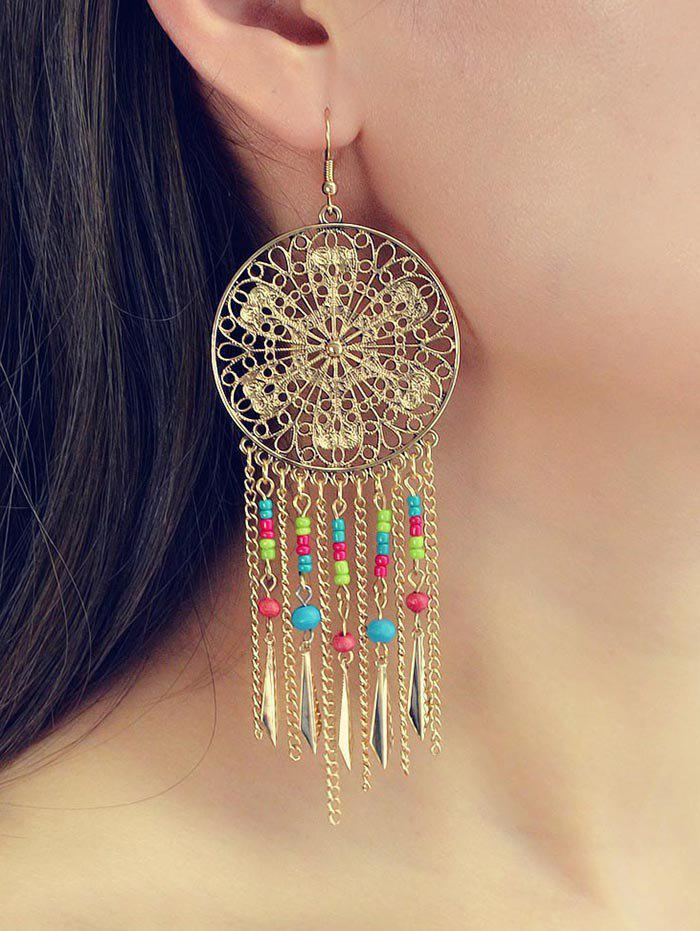 Store Ethnic Hollow Out Tassel Chain Earrings
