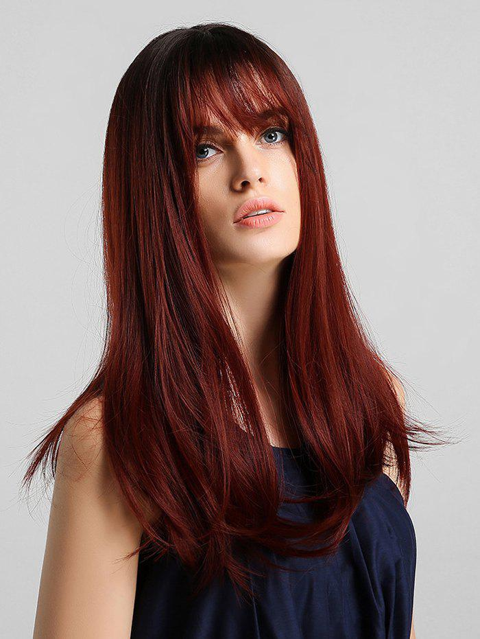 Trendy Synthetic Long Straight See-through Bang Wig
