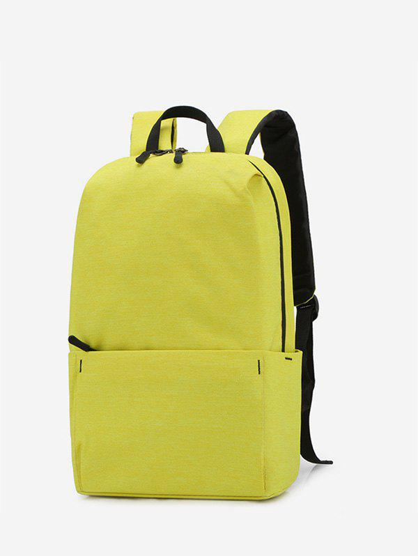 New Solid Color Large Capacity Backpack