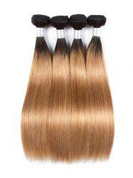 Ombre Long Straight Human Hair Weft -