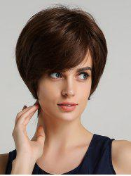 Synthetic Straight Short Side Bang Wig -
