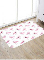 Flamingo Pattern Water Absorption Area Rug -