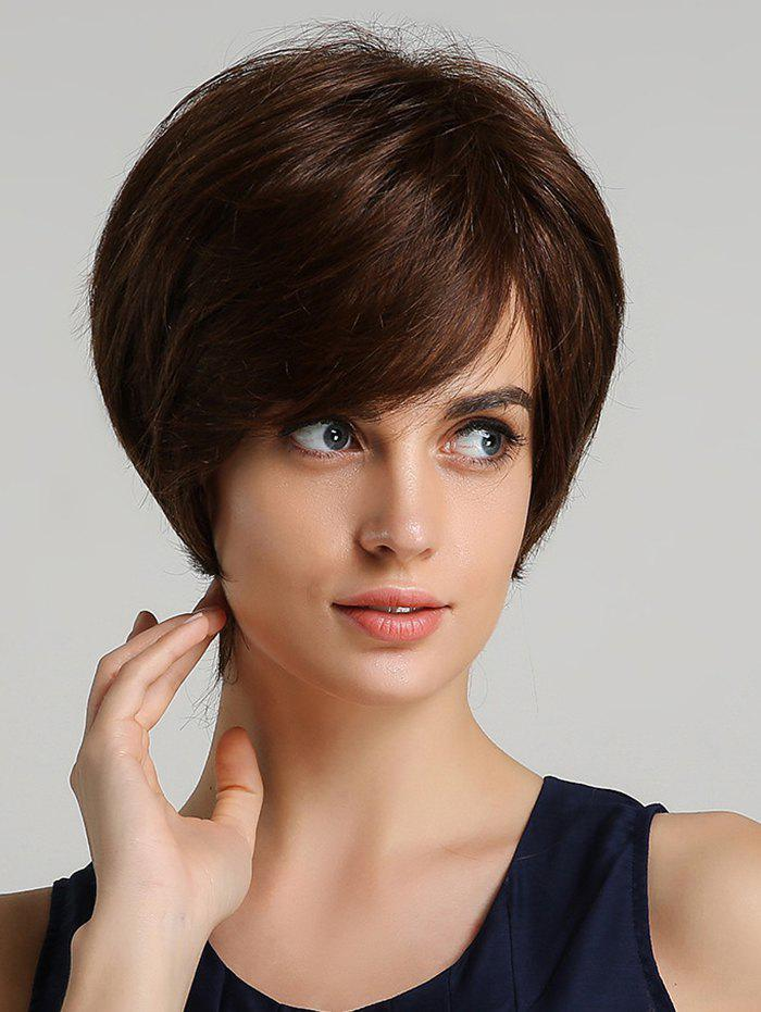 Fancy Synthetic Straight Short Side Bang Wig