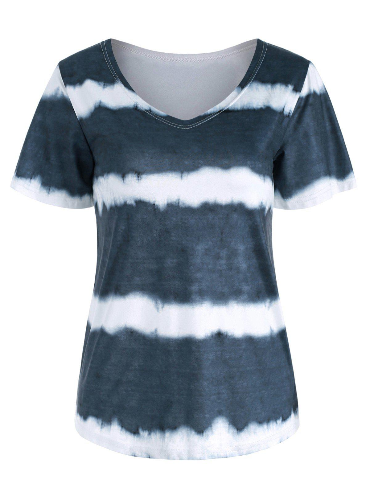 Outfits Tie Dye Casual Short Sleeve T-shirt
