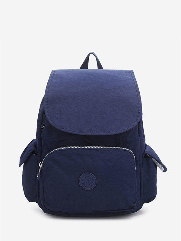 Chic Solid Color Canvas Backpack