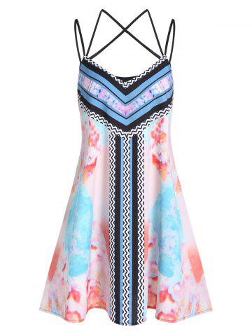 Mini Spaghetti Strap Printed Dress