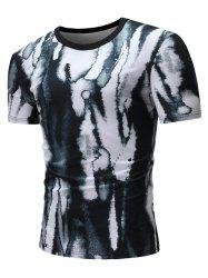 Dye Print Casual Short Sleeves T-shirt -