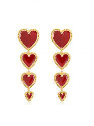 Heart Long Drop Earrings -