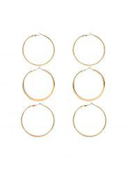 Asymmetric Hoop Earring Set -