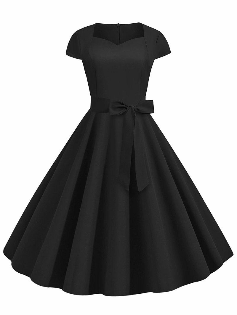 Hot Sweetheart Neck Vintage Fit and Flare Dress