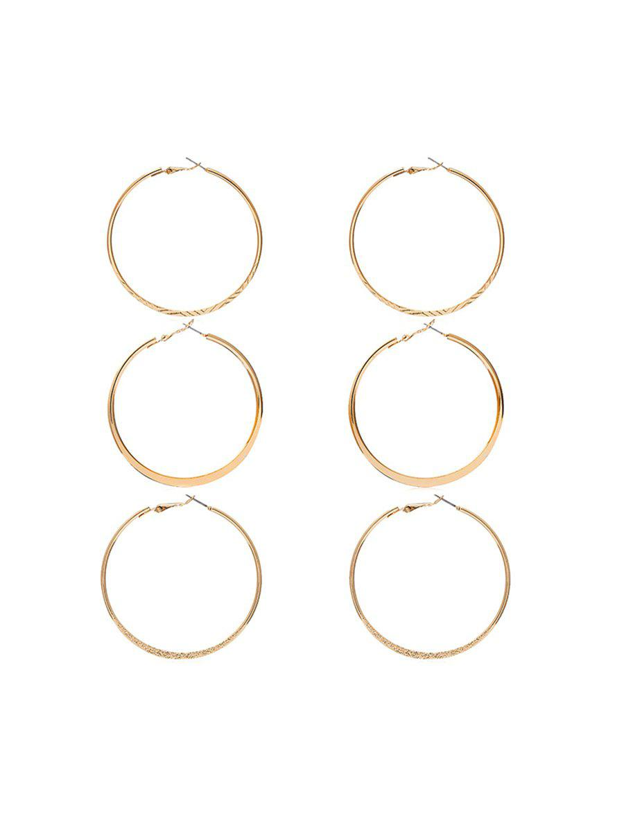 Fancy Asymmetric Hoop Earring Set