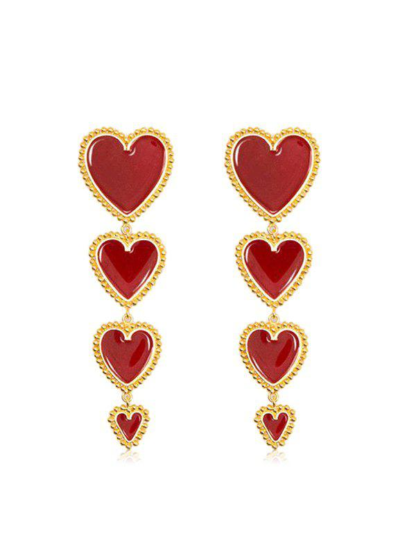Best Heart Long Drop Earrings