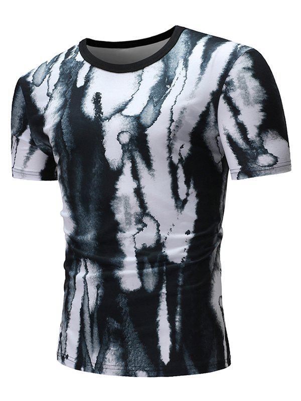 Chic Dye Print Casual Short Sleeves T-shirt