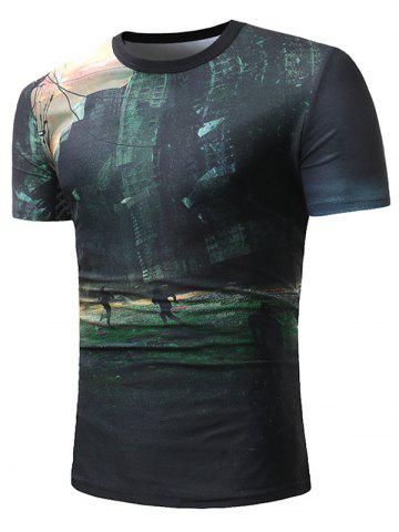 Graphic Printed Short Sleeves Casual T-shirt