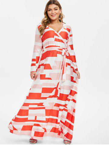 8144f12779539 Plus Size Geometric Dress - Free Shipping, Discount And Cheap Sale ...
